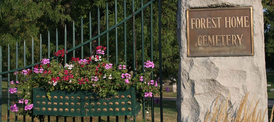 Forest Home Cemetery Gate
