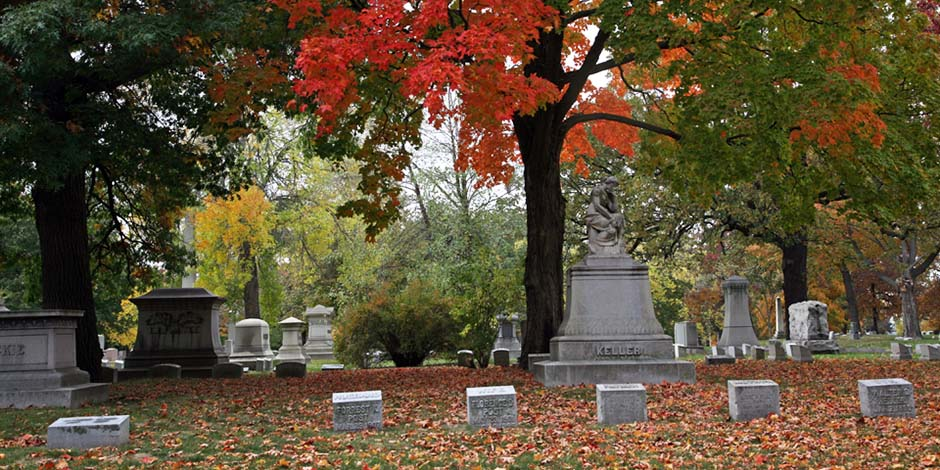 Forest Home Cemetery Fall Graves